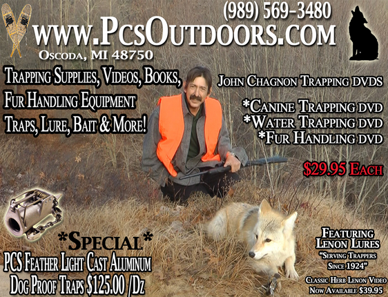 PCS Outdoors trapping supplies